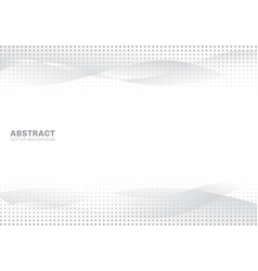 abstract white and gray gradient waves modern vector image