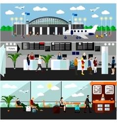 Airport terminal concept Air vector
