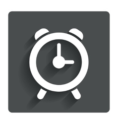 Alarm clock sign icon Wake up alarm symbol vector