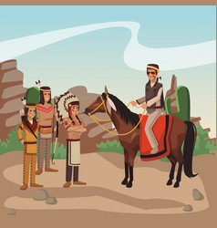 American indian tribe vector
