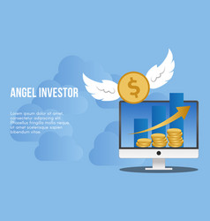 Angel investor concept design template vector