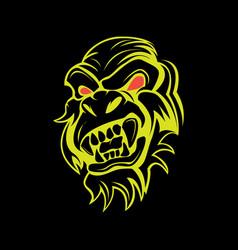 angry monkey vector image
