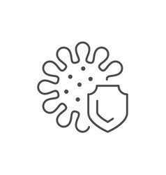 antibacterial protection line outline icon vector image