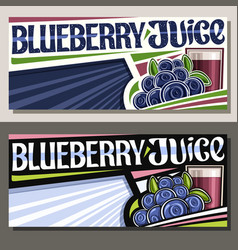 Banners for blueberry juice vector