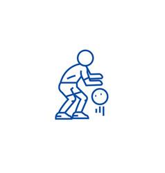 basketball player line icon concept basketball vector image