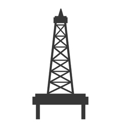Black and white petro tower graphic vector