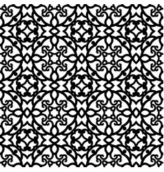 Black and white seamless lace texture vector