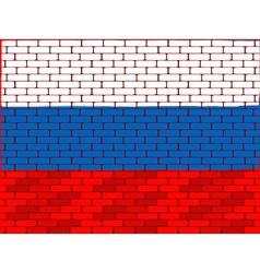 brick wall russia vector image