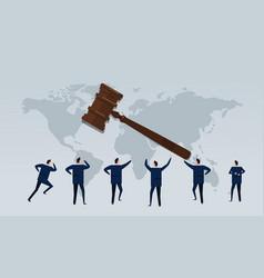 Business law international businessman looking vector