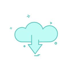 cloud download icon design vector image