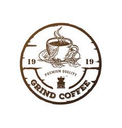 Coffee grinder logo vector