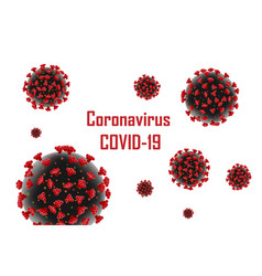 Corona virus 2019-ncov banner medical virus vector