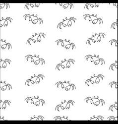 crab pattern seamless vector image