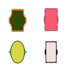 decorative vintage frames and borders set vector image