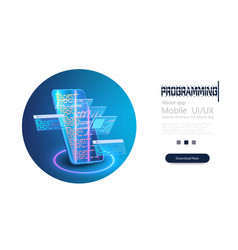 development and software concept programming vector image