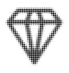 diamond halftone dotted icon vector image