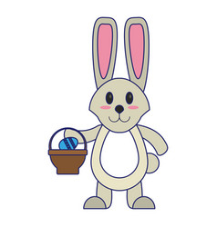 easter day cute cartoons vector image