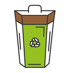 Ecology recycle bin isolated icon vector