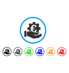 euro development service hand rounded icon vector image