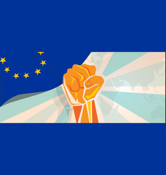 Europe fight and protest independence struggle vector