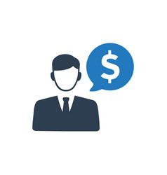 Financial manager icon vector