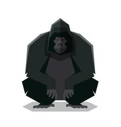 Flat geometric gorilla vector