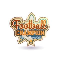 Football Badge vector image