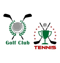 Golf club heraldic logo or emblems vector image