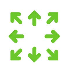 green simple arrows in 8eight different directions vector image