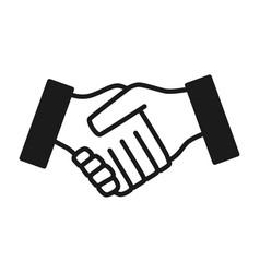 Hand shake gesture vector