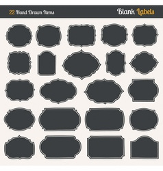 handrawn blank labels vector image