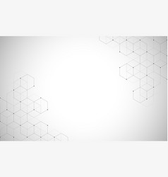 Hexagons pattern geometric abstract vector