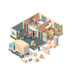 house removal service company loader vector image