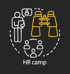 Human resources corporation staff camp chalk vector