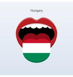 Hungary language Abstract human tongue vector image