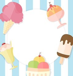 Ice cream summer background vector image