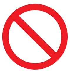 Icon ban with shadow on white background vector image
