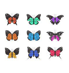 icons of butterflies4 vector image