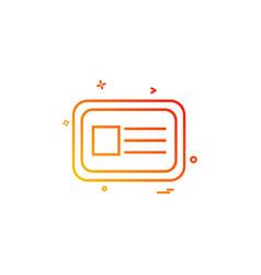 id card icon design vector image
