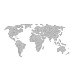 infographic element with grey global world map vector image