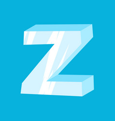 Letter z ice font icicles alphabet freeze vector