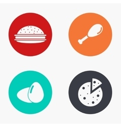 modern food colorful icons set vector image