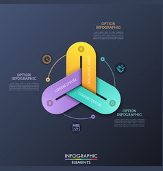 modern infographic design templates with 3 vector image