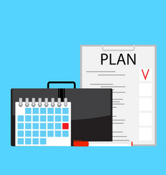 Monthly plan vector