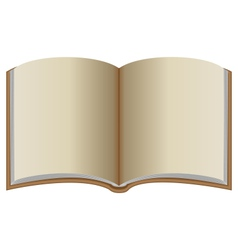 Open book with brown cover vector