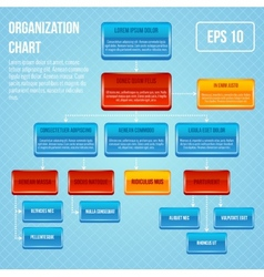 Organizational chart 3d concept vector image