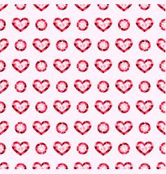 pink gemstones jewels seamless pattern vector image