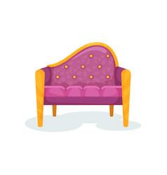 purple vintage ottoman interior design element vector image