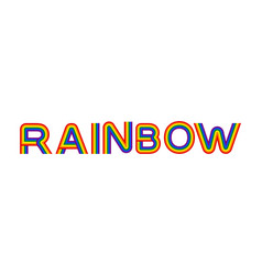 rainbow lettering multicolored letters on white vector image