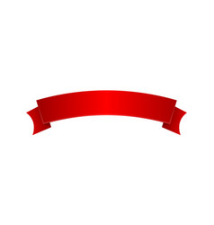 red elegant satin ribbon isolated icon vector image